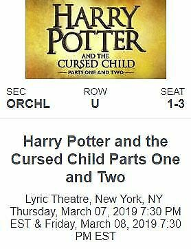 Harry Potter and The Cursed Child - Part 1 & 2 (10/3 7:30PM & 10/4 7:30PM) at Lyric Theatre